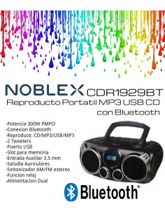 Reproductor Cd Noblex Cdr1929bt