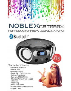 Reproductor Digital Bt 150w Noblex Cbt959x