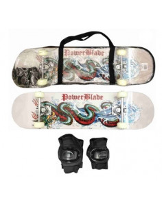Skate Powerblade C/funda Y Proteccion Art005b