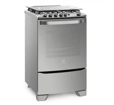 Cocina Electrolux 56tax Horno Simple 4hornllas 56cm Tapa Vidrio